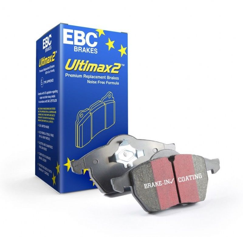 EBC Uprated Ultimax Front Brake Pads | Ford Ranger 2.2 TDCI T7 2016 Onwards